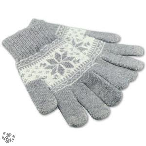 Ideal-Case Touch Glove - Grå/Vit