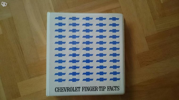 Chevrolet finger tip facts 1965, 66