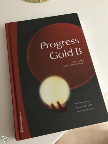 "Engelska bok ""progress gold B"""