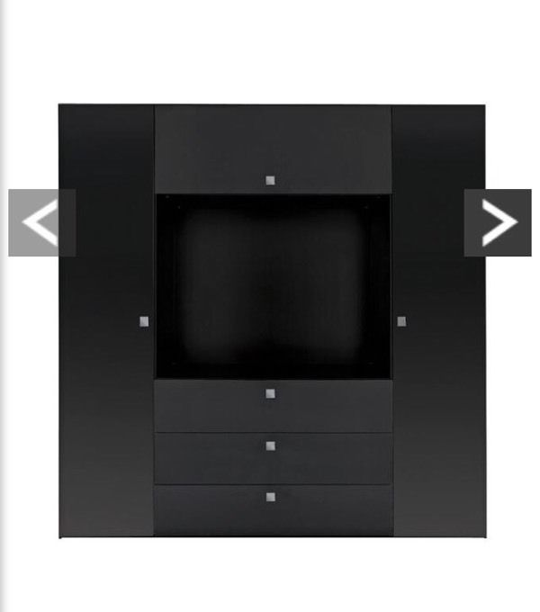 Mono Black TV Wardrobe