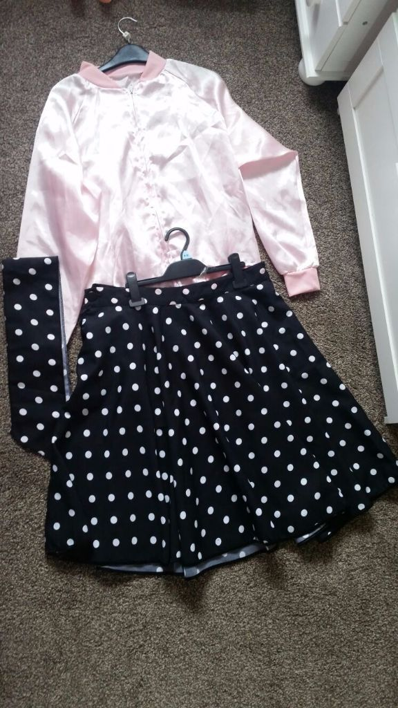 *Grease pink ladies fancy dress outfit*(open to offers)