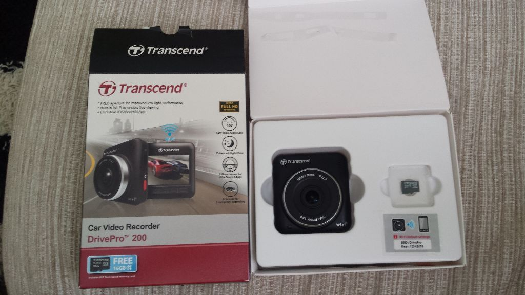 Transcened drivepro 200 car video recorder car