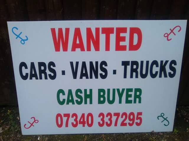 wanted cars vans trucks 4x4 mpvs caravans campers motorcycles quads diggers dumpers forklifts scrap