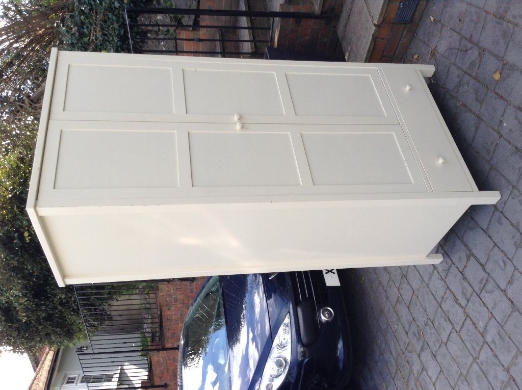 Complete Wooden Off White Bedroom Suite