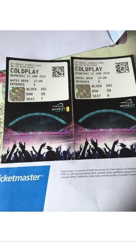 Coldplay tickets + accommodation (1night)