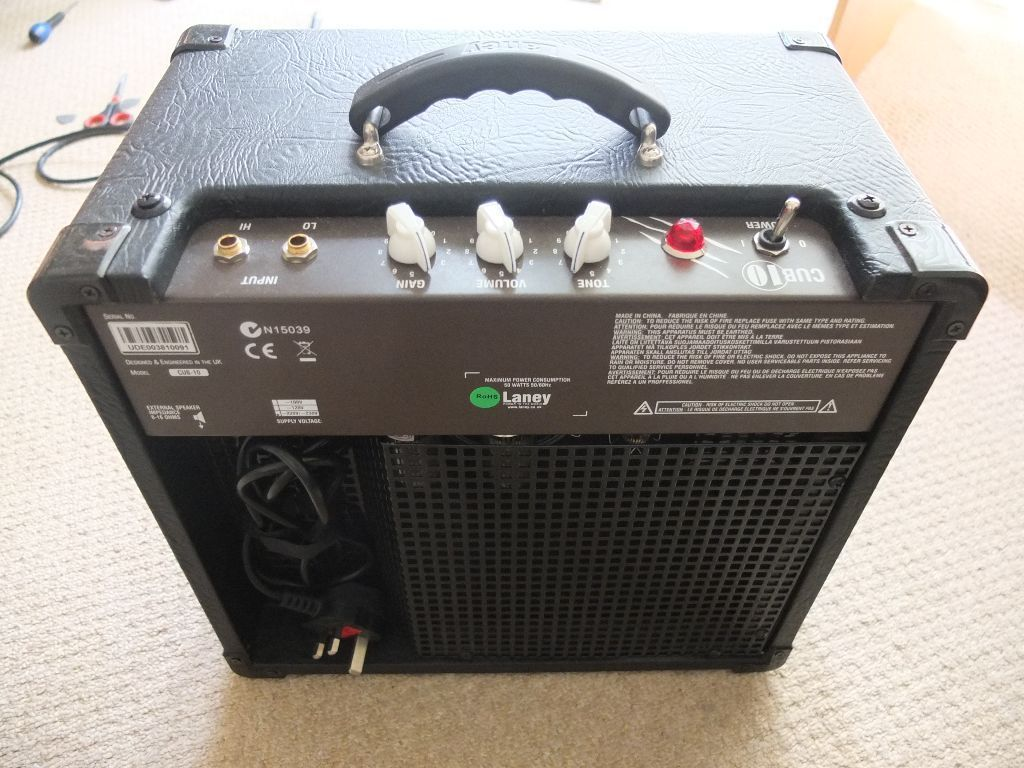 Laney Cub 10 guitar amp all valve as new