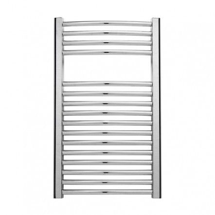 Curved chrome towel warmer