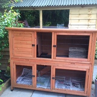 Rose Cottage Hutch for Rabbits and Guinea Pigs offered in v.g. condition with free accessories