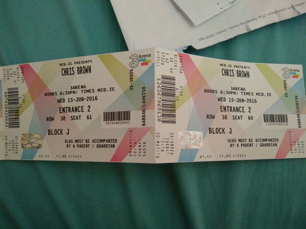 Chris brown Ireland tickets