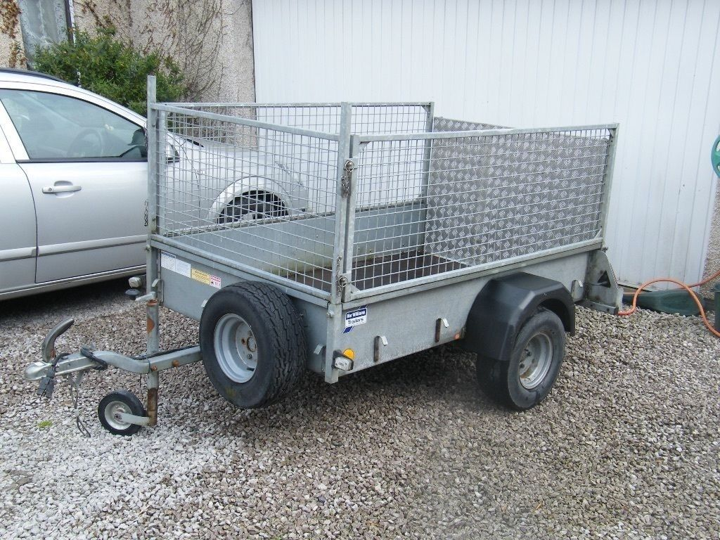 IFOR WILLIAMS P6e unbraked Trailer with removable front and sides, unused spare wheel + wheel clamp