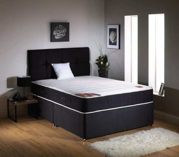 FREE DELIVERY - DOUBLE DIVAN BED WITH ULTRA MEMORY FOAM MATTRESS - EXPRESS DELIVERY