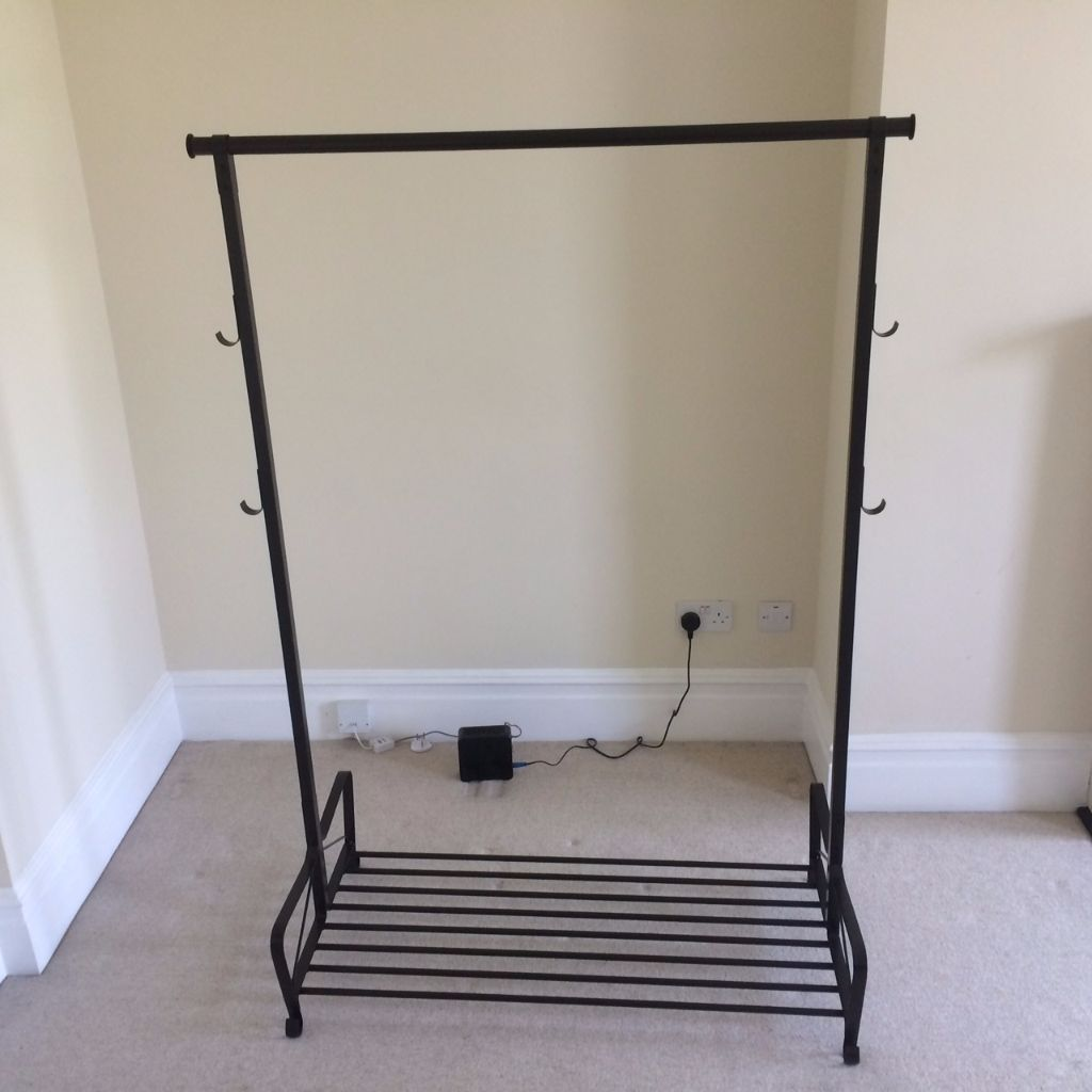 Brand new *6 months used* clothes rack and shoe rack