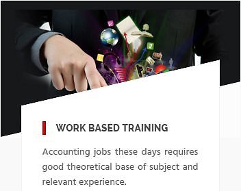 Work-based Accounting Training - Accounting Training That Really Matters