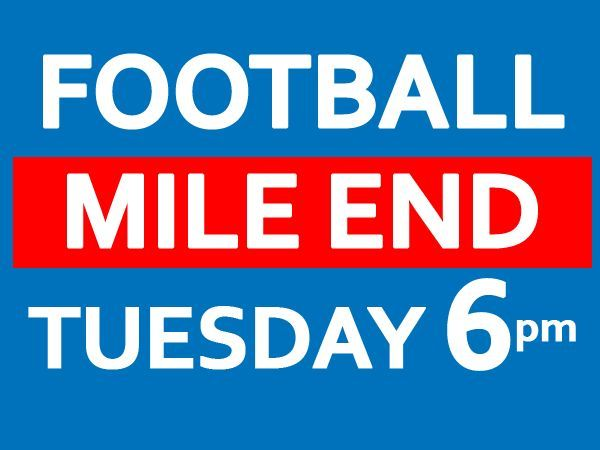 Play friendly 8 a side football game at Mile End every Tuesday 6-7pm