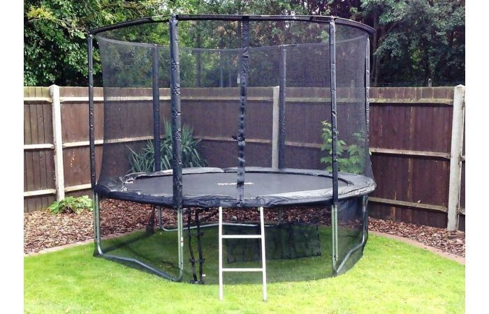 12ft deluxe Cortez trampoline black brand new in 3 boxes collection from Middleton