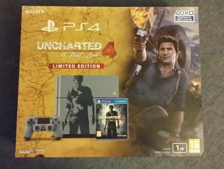 PLAYSTATION 4 1TB UNCHARTED LIMITED EDITION BRAND NEW BOXED