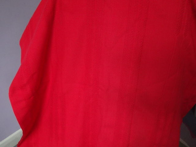Large red tablecloth (cotton) to fit rectangular table