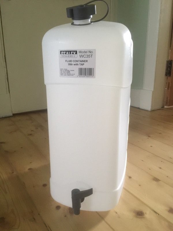 Sealey 35ltr fluid container (never been used)
