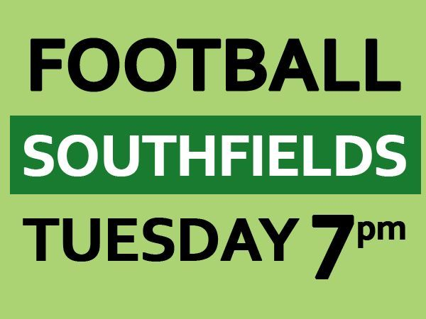 Tuesday 7pm . Friendly 8 a side football game needs players at Southfields