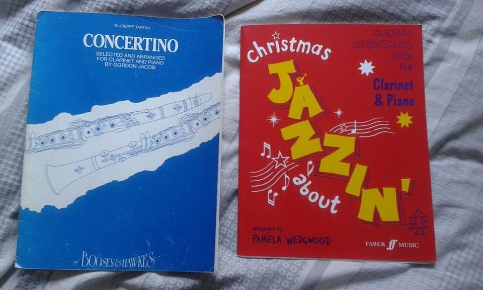 Two music books for clarinet and piano