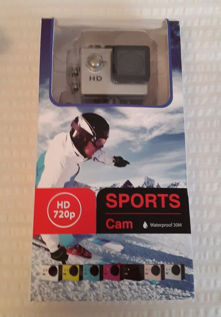 HD 720p Sports Action Camera Waterproof to 30m 1.5-inch LCD Screen
