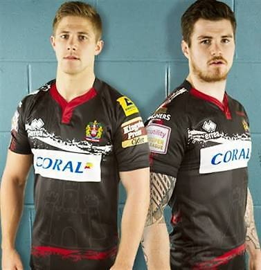 Looking to buy Wigan Warriors 2015 alternative jersey size Small (black with castle)