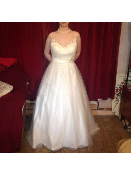 Wedding dress size 10/12 unique custom design (worn once!!)