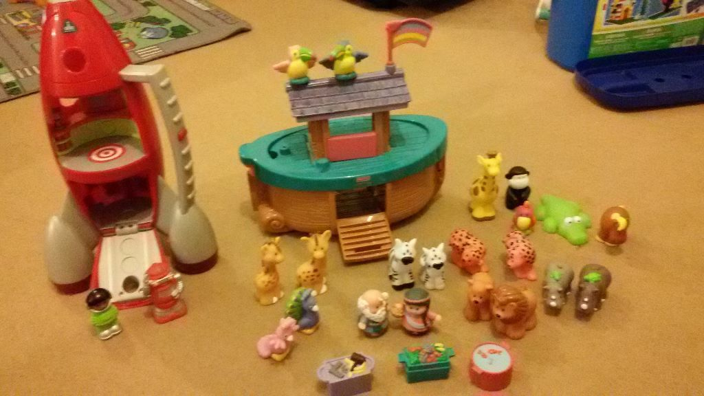 Fisher Price Little People Noahs Ark and ELC Rocket