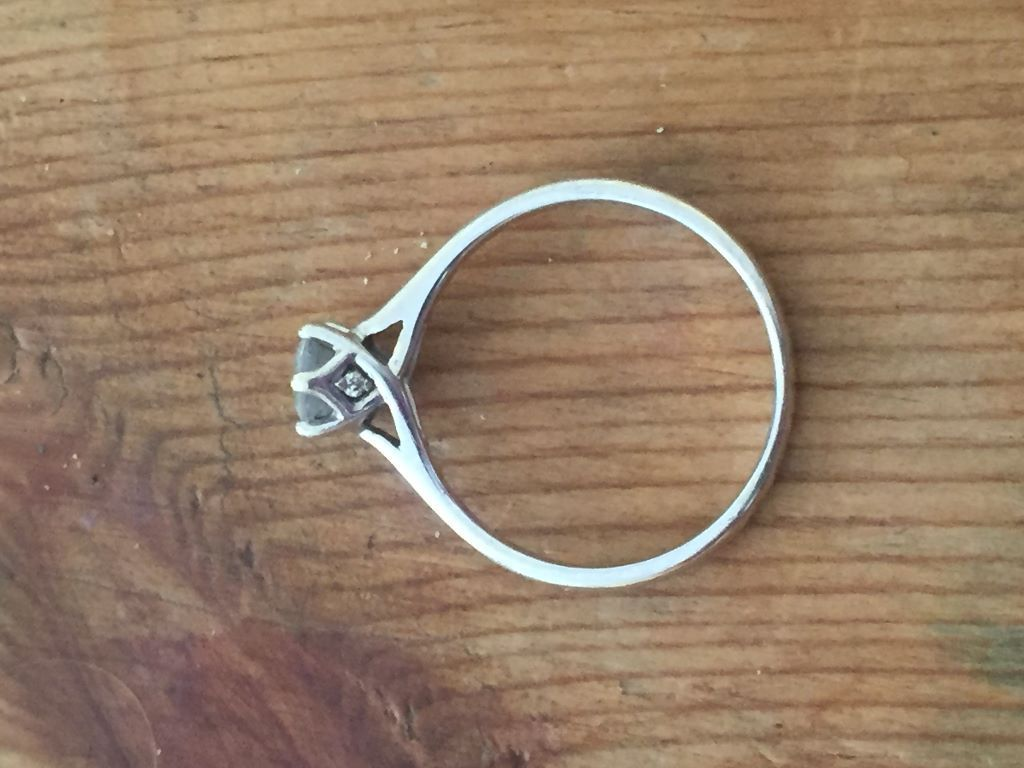 For Sale: 9ct White Gold Half Carat Diamond Solitaire Ring