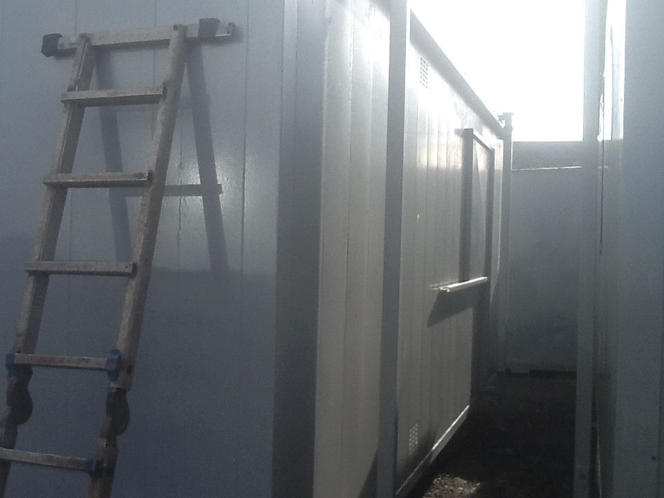 20ft x 8ft portable cabin steel anti vandal site office steel shipping container portable office