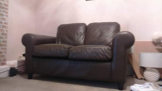 Two seater leather sofa for sale!