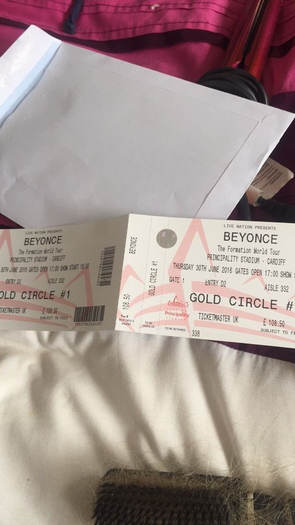X2 BEYONCE GOLD CIRCLE TICKETS