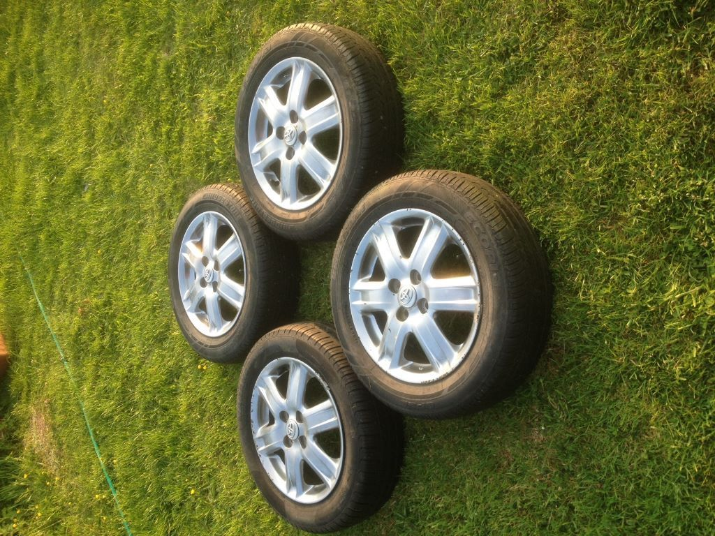 Toyota IQ Alloy Wheels and Tyres. 4 x 100 57.1mm Centre