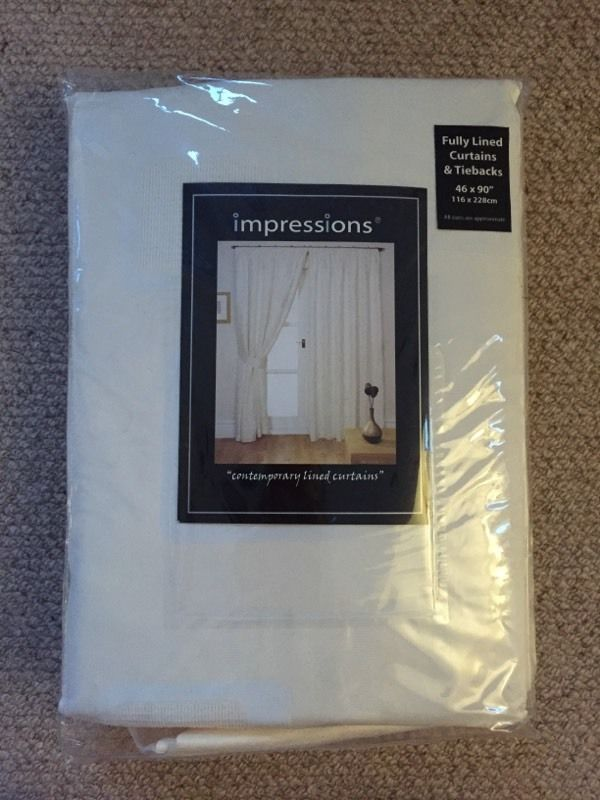 """Littlewoods Impressions Full Length Curtains - 46""""x90"""""""