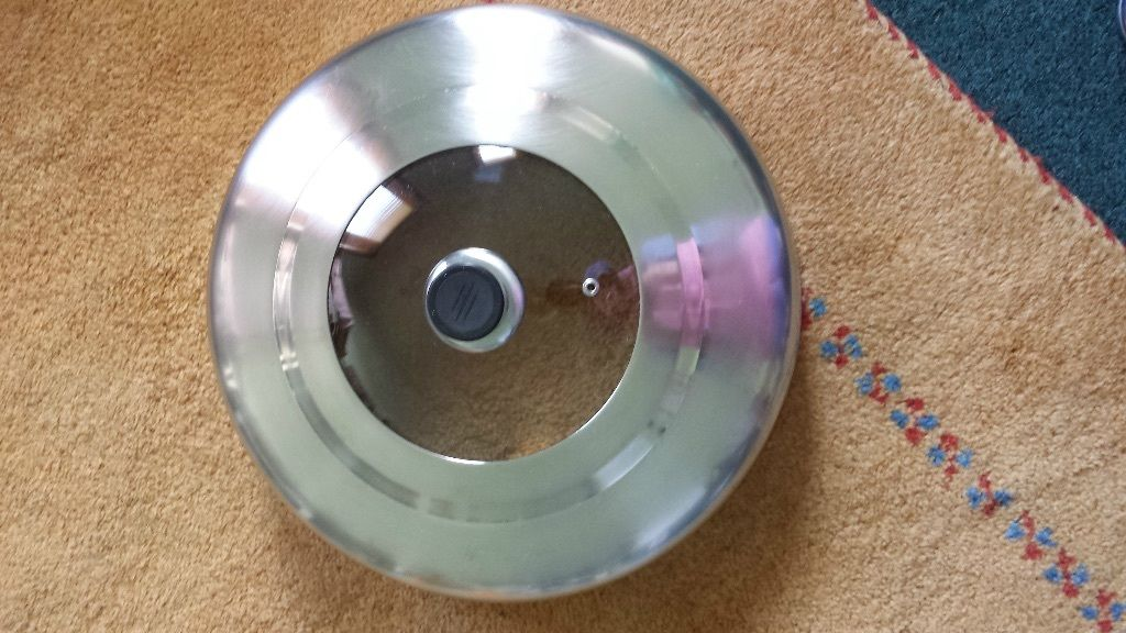 stainless steel lid with glass