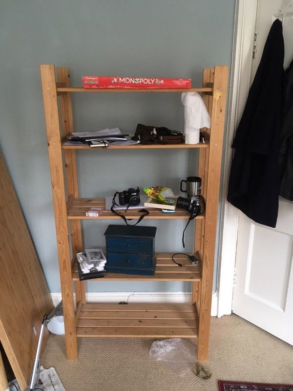 FREE Wooden Shelving Unit- city centre collection only