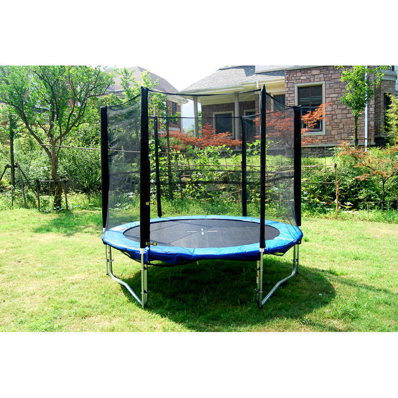 8 Foot Trampoline with safety enclosure