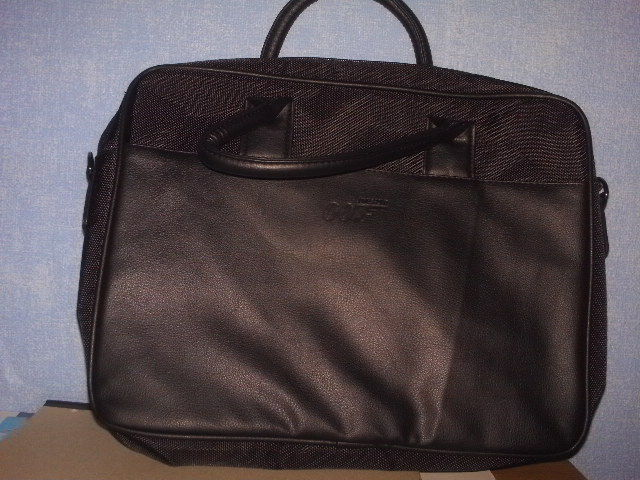 """Black Leather Look 15 inch, Laptop Bag """"For Sale"""""""