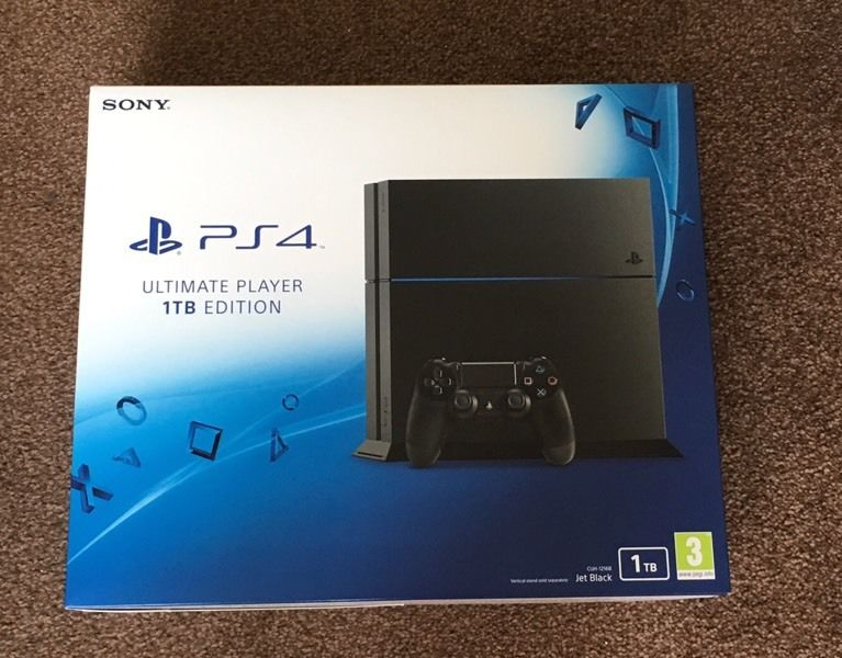 PS4 1TB ULTIMATE PLAYER EDITION CONSOLE BLACK Brand New Sealed