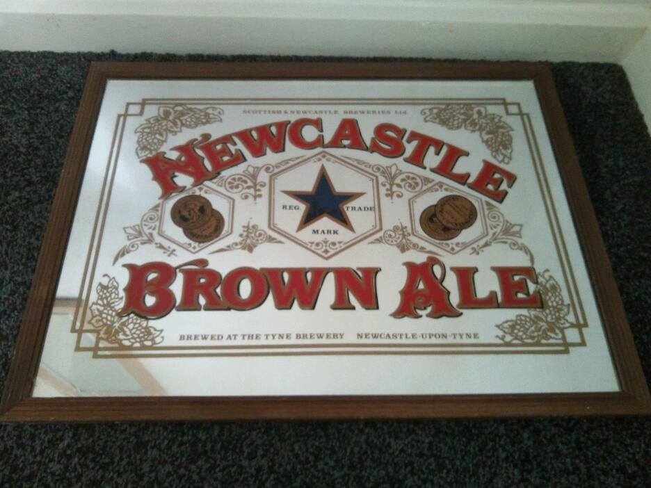 Vintage / retro Newcastle Brown Ale mirror