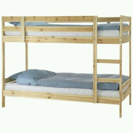 Ikea Mydal Bunk Bed Pine Frame House Clearance