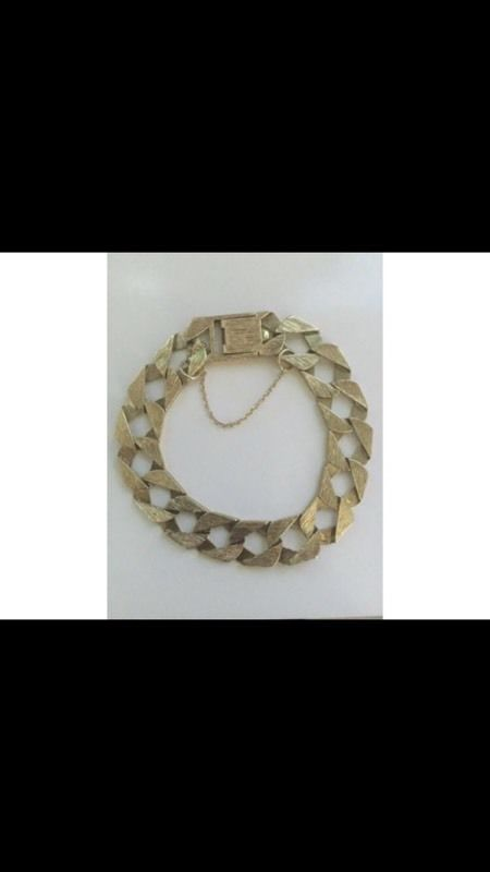 9ct Solid Gold Cast Bracelet .. Swap or sell