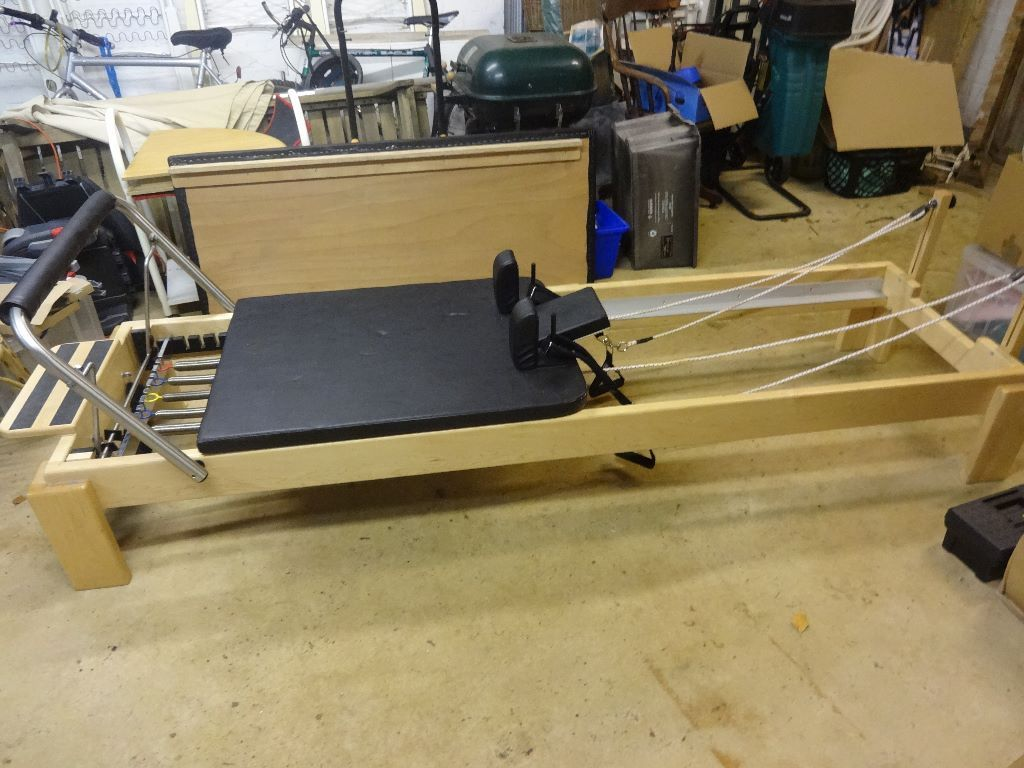 Wooden Pilates Reformer and Mat Conversion