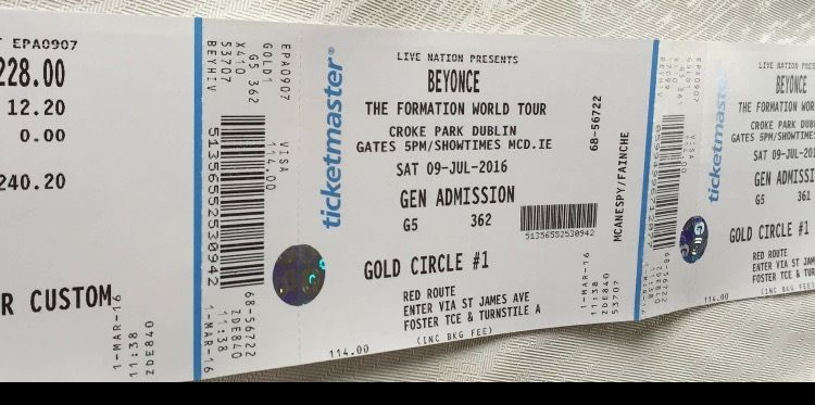 2 Beyonce golden circle tickets