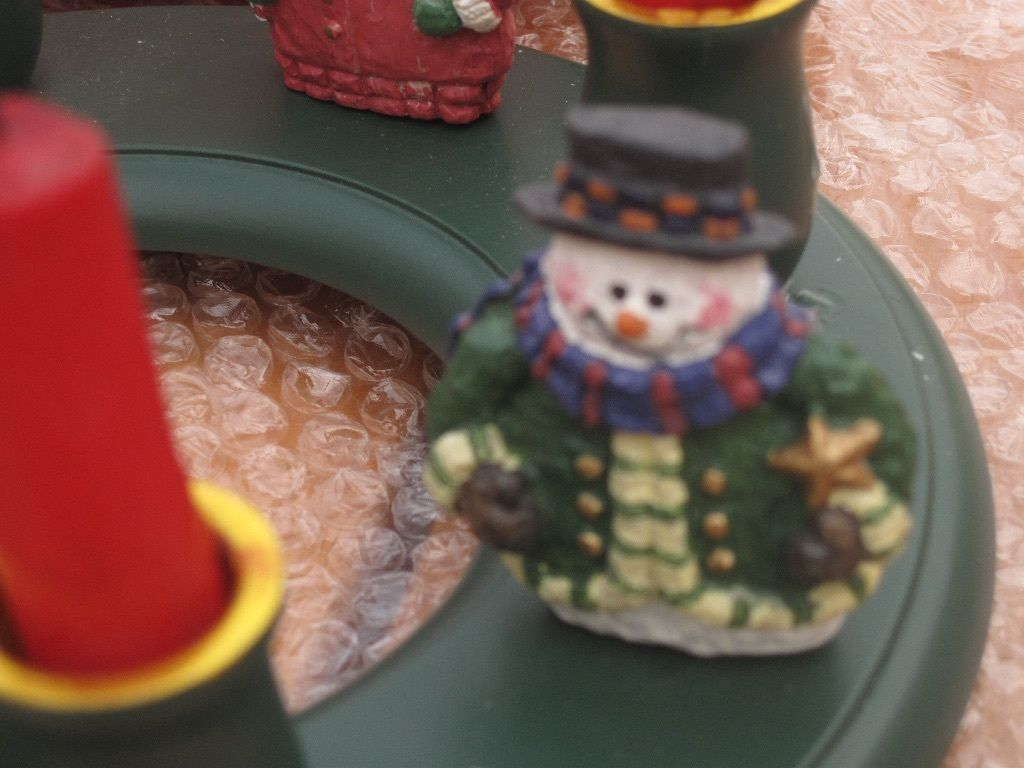 Christmas ring candle holder