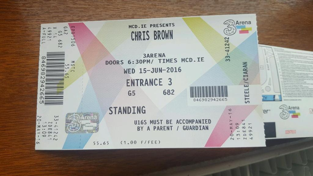 1x Chris Brown standing ticket