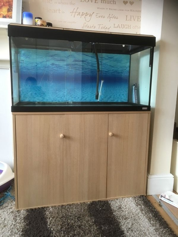 Fluval 220ltr fish tank and stand