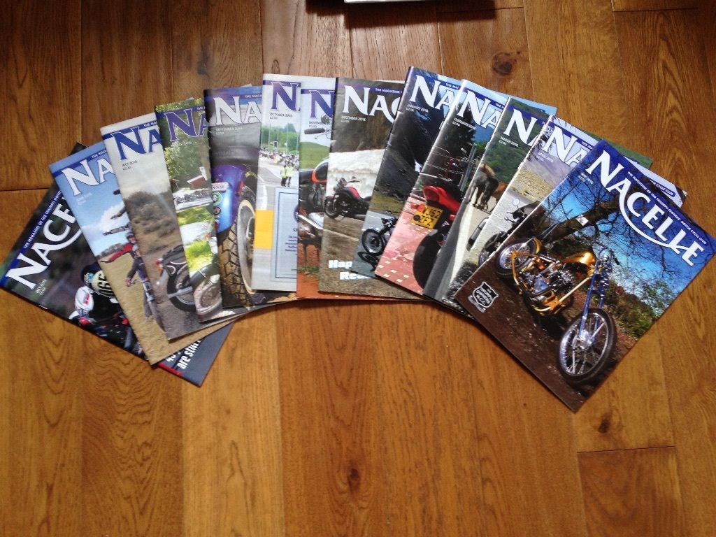 NACELLE - Triumph Owners Club Magazines - Job Lot - 13 issues - May 15 to May 16