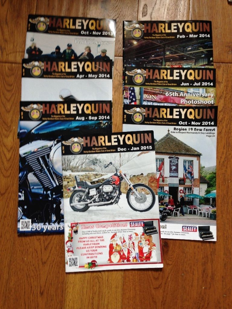 Harleyquin Magazines - Harley Davidson Riders Club - UK - Job Lot