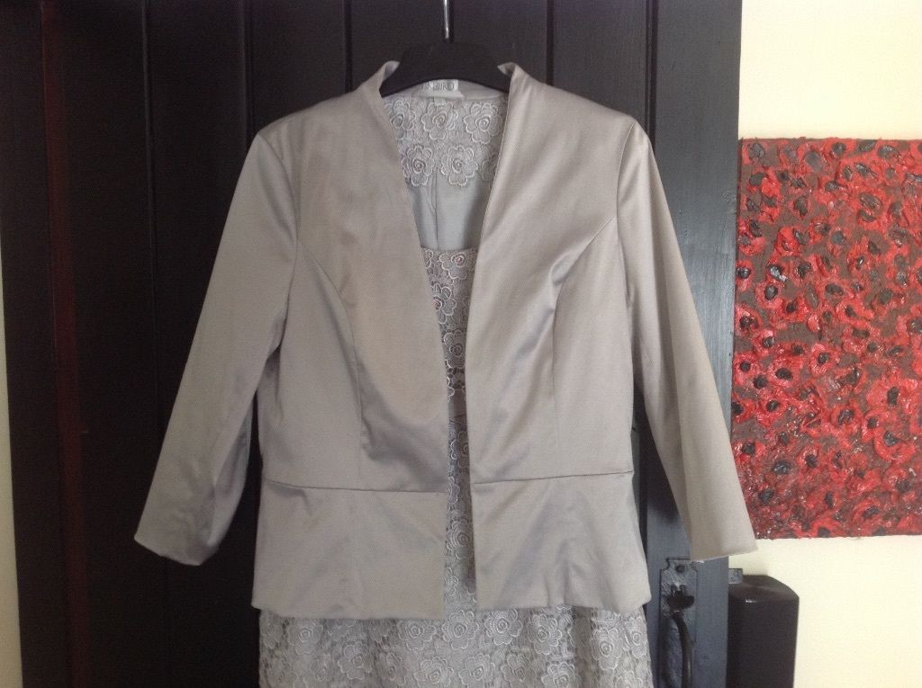 Beautiful Kaliko grey dress and jacket size 14